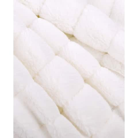 BOON Solid Color SuperMink FauxFur Throw with Sherpa Backing