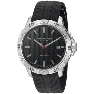 Raymond Weil Men's 8160-SR2-20001 'Tango' Black Rubber Watch|https://ak1.ostkcdn.com/images/products/14722363/P21251374.jpg?impolicy=medium