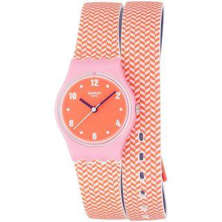 Swatch Women's LP141 'Pareo' Orange Silicone Watch