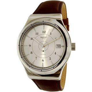 Swatch Men's YIS400 'Sistem Earth' Automatic Brown Leather Watch