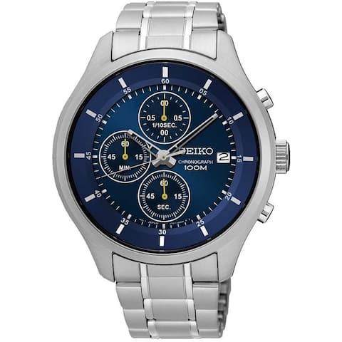 Seiko Men's SKS537P1 Chronograph Stainless Steel Watch