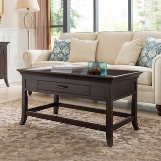 KD Furnishings Cherry Solid Wood Tray-top Coffee Table