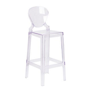 Offex Ghost Barstool in Transparent Crystal with Tear Back