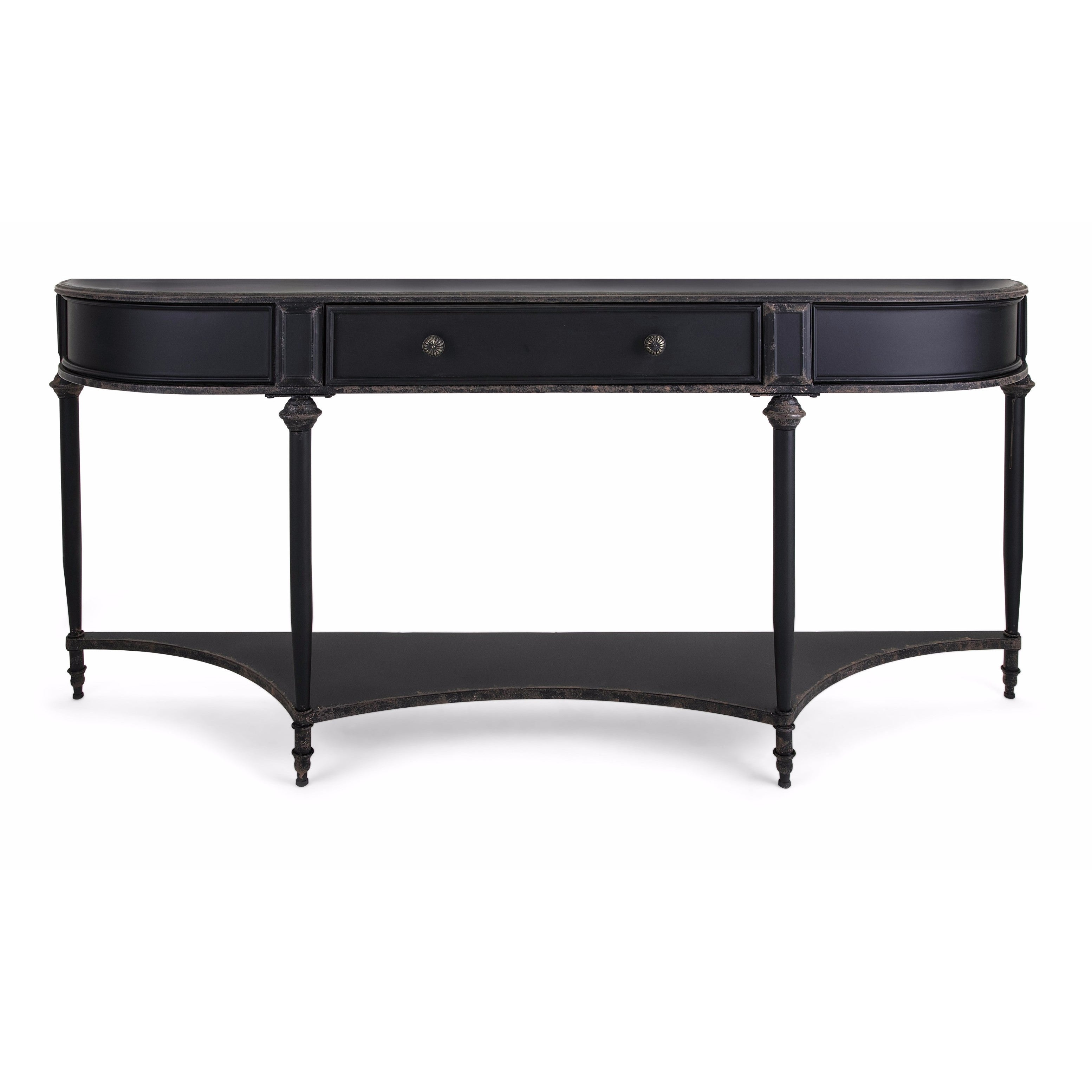 differently 42f73 d84d1 Atheron Black Metal Console Table with Drawer