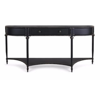 Atheron Black Metal Console Table with Drawer