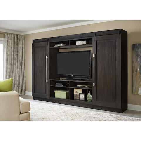 Abbey Charcoal 4 Piece Entertainment Center Wall Unit