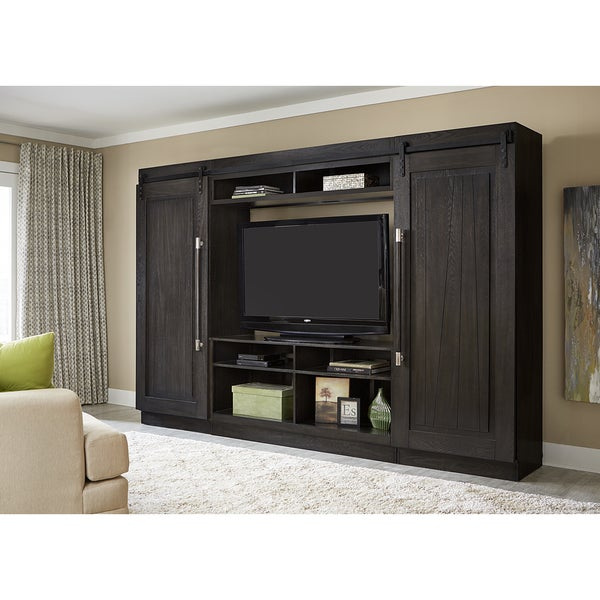Shop Abbey Charcoal 4 Piece Entertainment Center Wall Unit