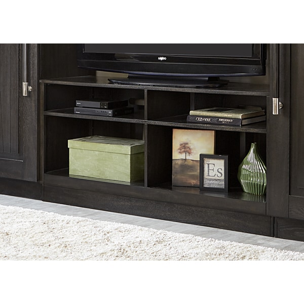 Shop Abbey Charcoal Entertainment Tv Stand Overstock