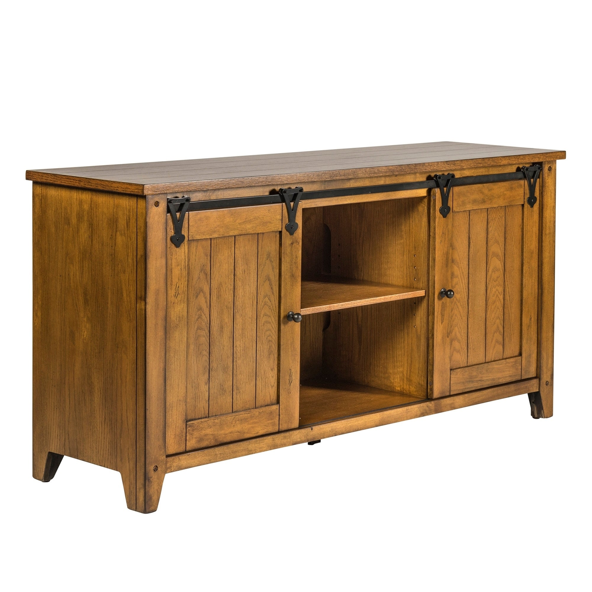 Liberty Lake House 60 Inch TV Console, Brown