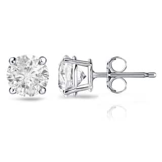 18k Gold 2 Carat Tw Round Clarity Enhanced Diamond Stud Earrings
