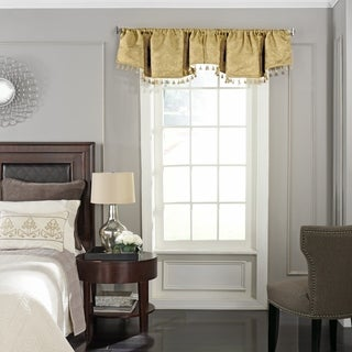 Beautyrest Germaine Blackout Damask Polyester Ascot Window Valance