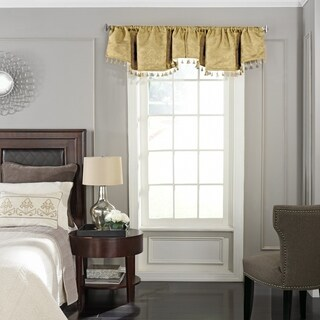 Beautyrest Germaine Blackout Damask Polyester Ascot Window Valance - 48x18