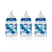 NUK Blue Elephant 5-ounce Slow Flow Orthodontic Bottle (3 Pack)