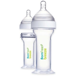 Born Free Breeze 2-ounce Newborn Plastic Bottle (2 Pack)
