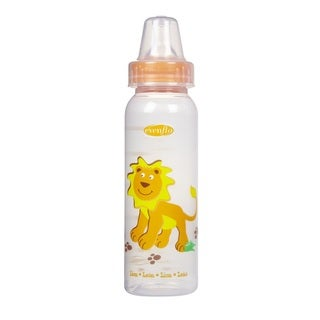 Evenflo Orange Zoo Friends 8-ounce Bottle with Standard Nipple