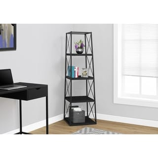 Bookcase, Black Metal, 60-inch