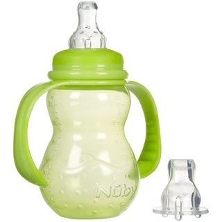 Nuby Green 3 Stage Standard 7-ounce Neck Bottle