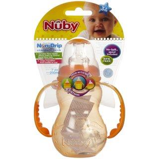 Nuby Orange 3 Stage Standard Neck 7-ounce Bottle
