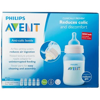 Philips Avent Blue Anti-Colic 9-ounce Baby Bottle (5 Pack)