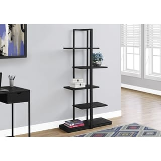 Bookcase, Black Metal, 60-inch