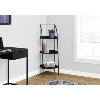 Bookcase, Black Metal 48-inch