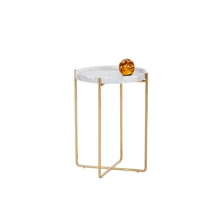 Liv White Marble Side Table