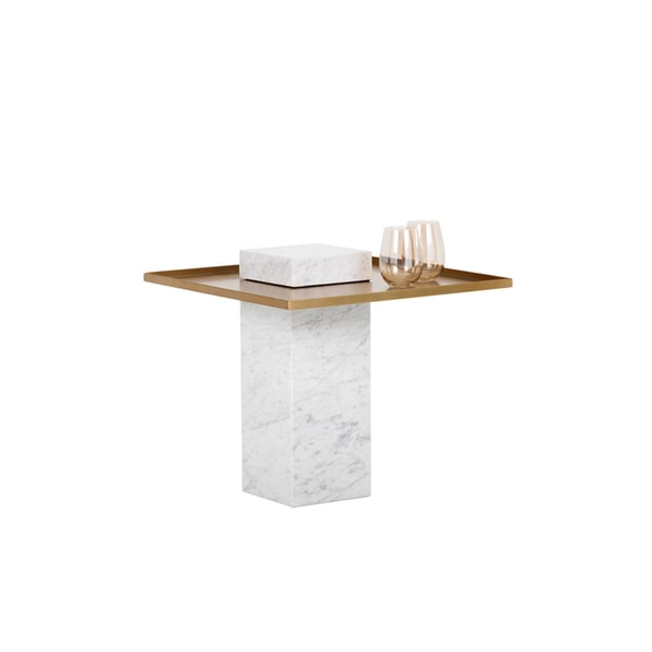 Verona Marble Coffee Table: Shop Verona White Marble/Gold End Table