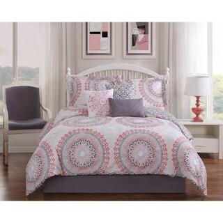 Studio 17 Parma 7-Piece Reversible Comforter Set - pink/grey/taupe