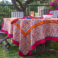Couleur Nature Autumn Bouquet Orange and Grey Table Cloth