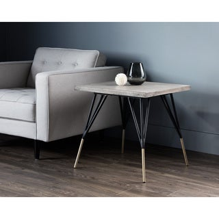Midori Contemporary Grey Side Table