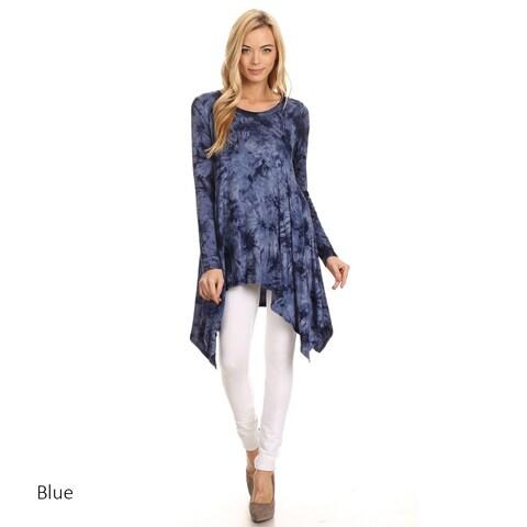 Women's Tie-dyed Jersey Knit Pattern Tunic