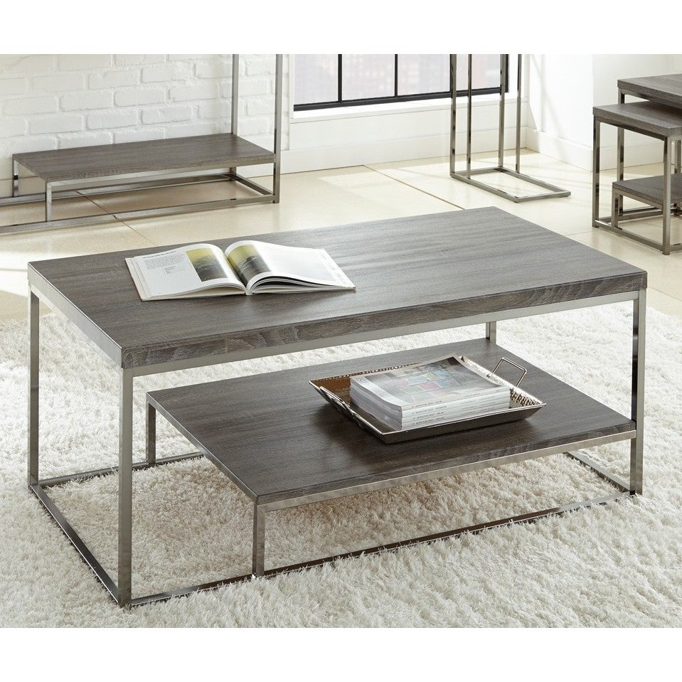 Lyke Home Grey Cocktail Table (Grey Cocktail Table)