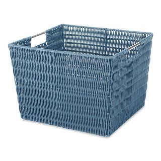 Whitmor Rattique Berry Blue Storage Tote