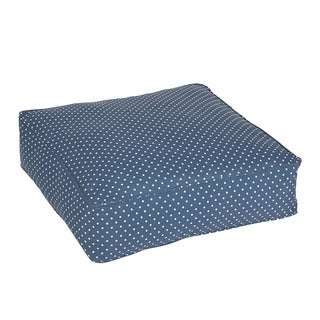 Maxwell Navy Mini Dots Indoor/ Outdoor 22.5 Inch Square Corded Cushion