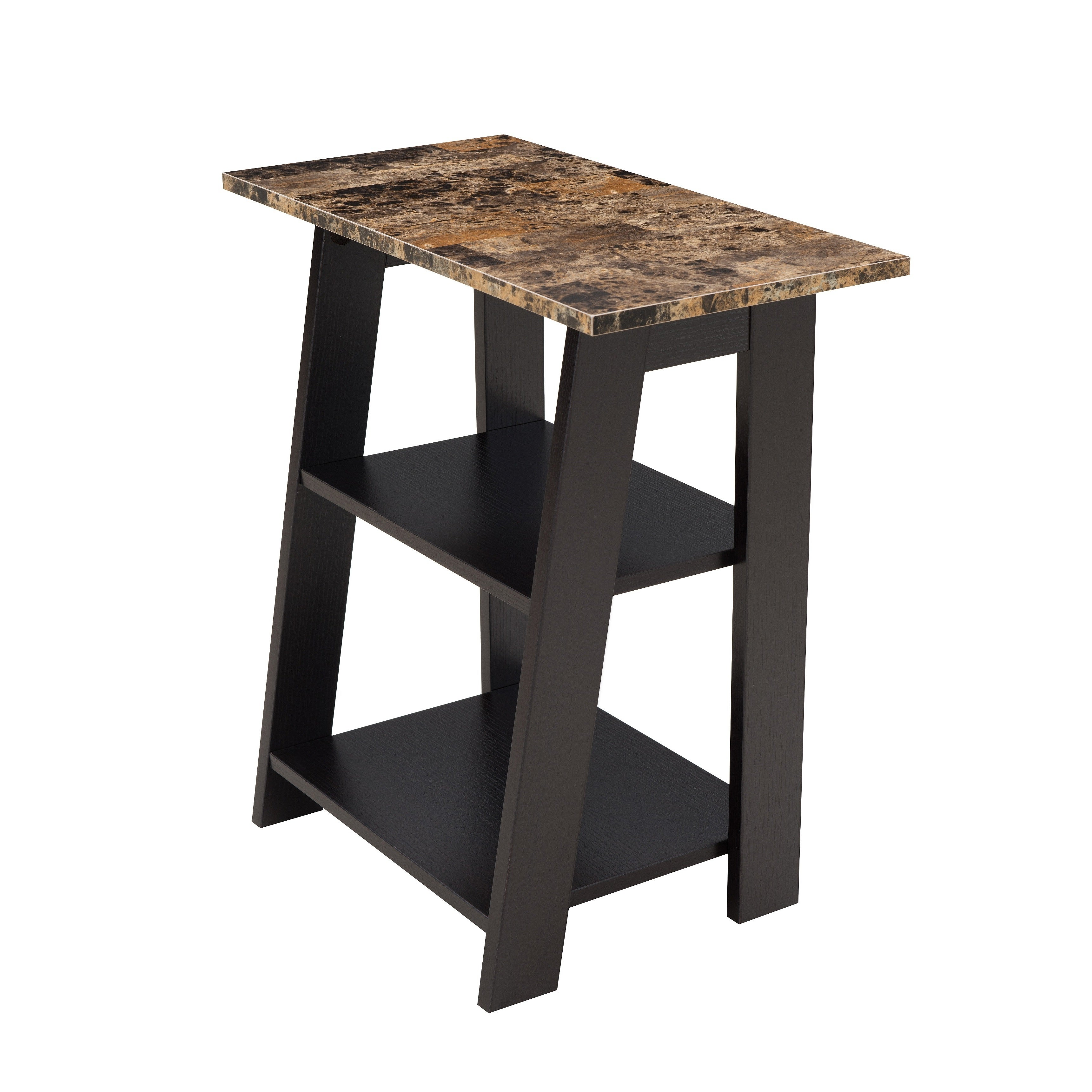 Lyke Home Faux Stone Chairside Table (Faux Stone Chairsid...