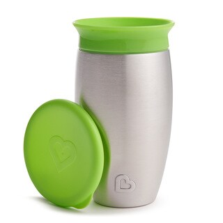 Munchkin Green 10-ounce Miracle 360 Stainless Steel Sippy Cup
