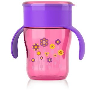 Philips Avent Purple Flowers My Natural 9-ounce Drinking Cup