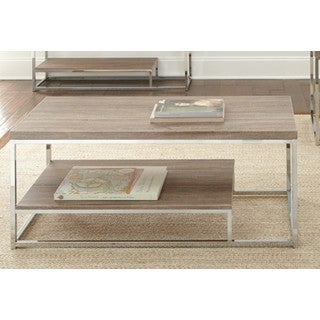 LYKE Home Brown Contemporary Cocktail Table