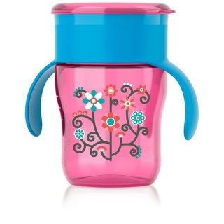 Philips Avent Pink Flowers My Natural 9-ounce Drinking Cup