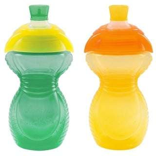 Munchkin Aqua/Yellow Click Lock Bite Proof 9-ounce Sippy Cup (Set of 2)