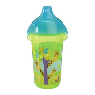 Munchkin Green Giraffe Click Lock Decorated 9-ounce Sippy Cup