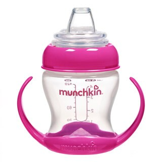 Munchkin Pink Flexi-Transition 4-ounce Trainer Cup