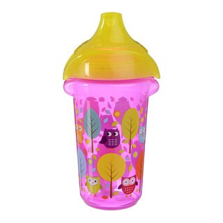 Munchkin Pink Owls Click Lock Decorated 9-ounce Sippy Cup