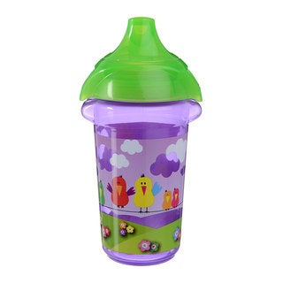 Munchkin Purple Birds Click Lock Decorated 9-ounce Sippy Cup