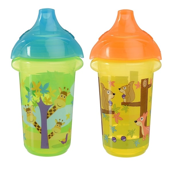 Munchkin Giraffe and Squirrel Click Lock Decorated 9-ounce Sippy Cup (2 Pack)