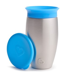 Munchkin Blue 10-ounce Miracle 360 Stainless Steel Sippy Cup