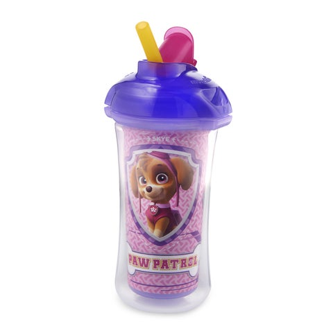 Munchkin 'Paw Patrol' Purple Plastic Click=lock Insulated 9-ounce Straw Cup