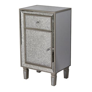 Heather Ann Creations Eleganza Series Wooden Formal Mirror-trimmed Cabinet