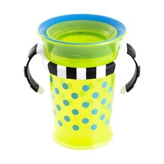 Sassy Green/Blue Grow Up No-Spill 7-ounce Trainer Cup