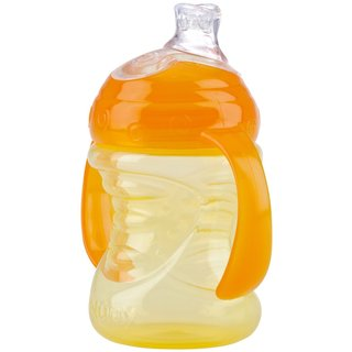 Nuby Yellow/Orange 2-handle 8-ounce No-Spill Super Spout Cup